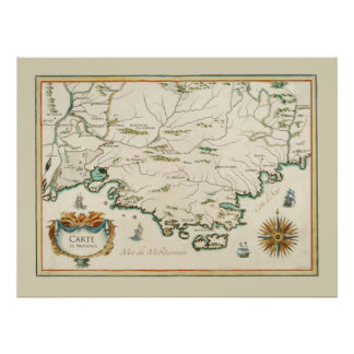 Provence Carte Poster