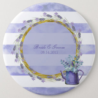 Provence Lavender Purple Flower Floral Wedding 6 Cm Round Badge