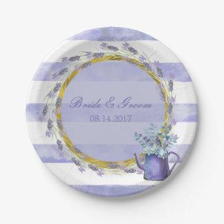 Provence Lavender Purple Flower Floral Wedding Paper Plate