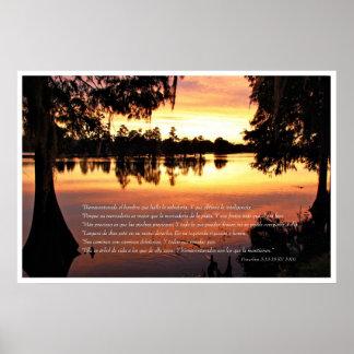 Proverbios 3: 13-18 con Arboles Poster