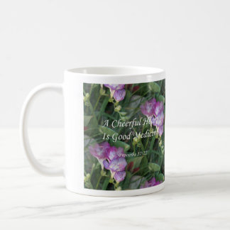 Proverbs17-22  ~ Freesia Flowers Coffee Mug