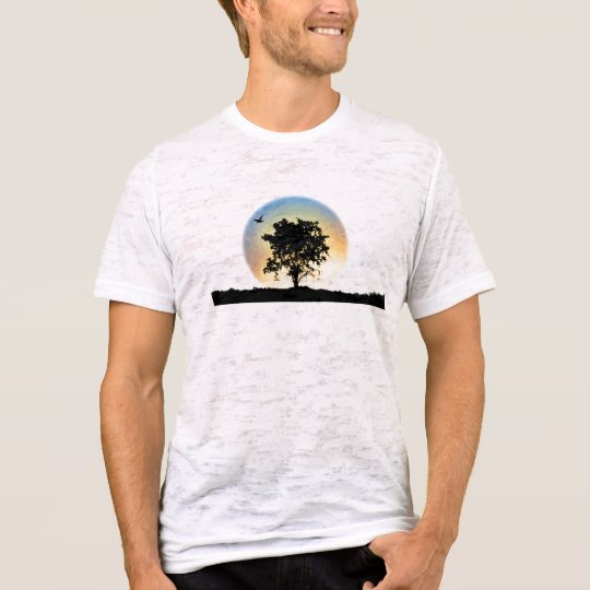 Proverbs 11:28 burnout tee with oak tree on front