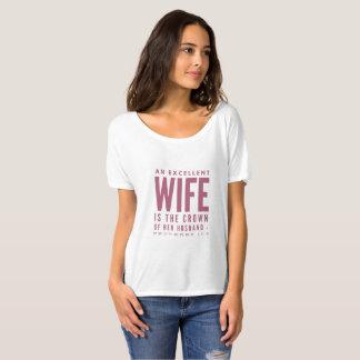 Proverbs 12:14 An Excellent Wife Christian Women's T-Shirt