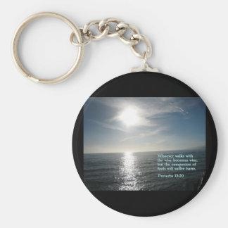 Proverbs 13:20  Sunset Key Chain
