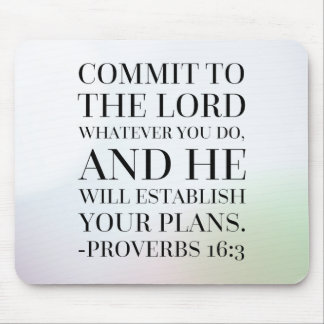Proverbs 16:3 Bible Quote Mouse Pad