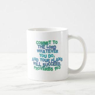 Proverbs 16:3 coffee mug
