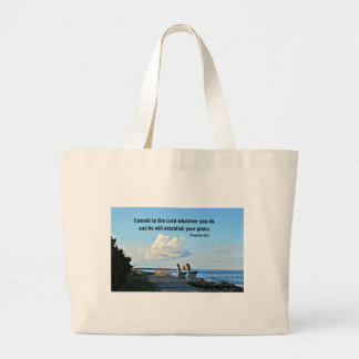 Proverbs 16:3 Commit to the Lord whatever you do.. Jumbo Tote Bag