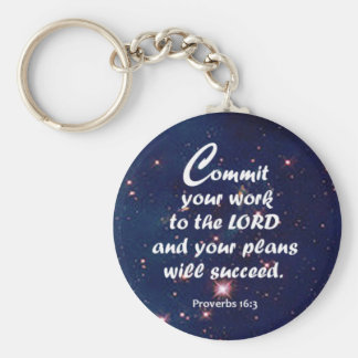 Proverbs 16:3 keychains