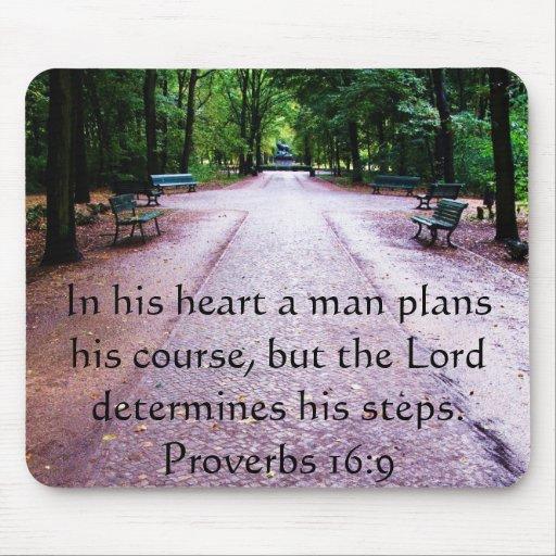 Bible Verses About Determination: Proverbs 16:9 Inspirational Bible Verse