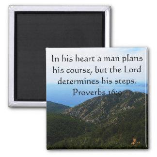 Proverbs 16:9 Inspirational Bible Verse Magnet