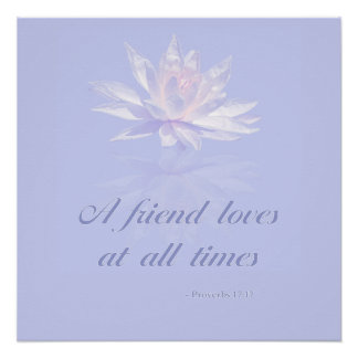 Proverbs 17:17 | Bible Quote | Lavender Floral