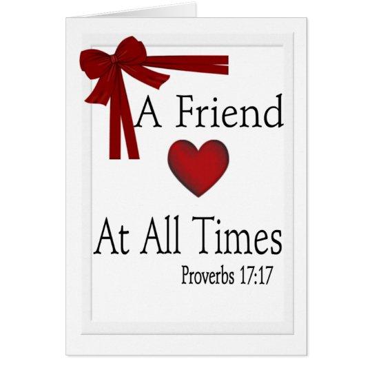 Proverbs 17:17 Card