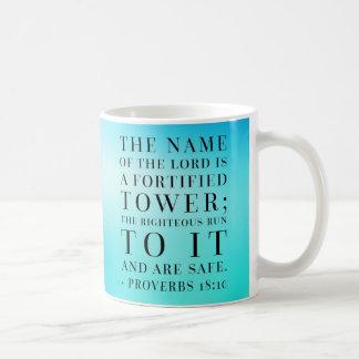 Proverbs 18:10 Bible Quote Coffee Mug