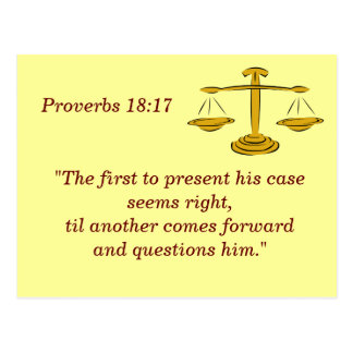 Proverbs 18 17 Scripture Memory Card
