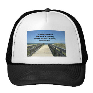 Proverbs 20:7 The righteous man walks in integrity Mesh Hats