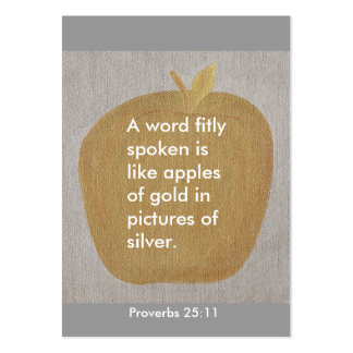 Proverbs 25:11, A word fitly spoken, apple cards Business Card