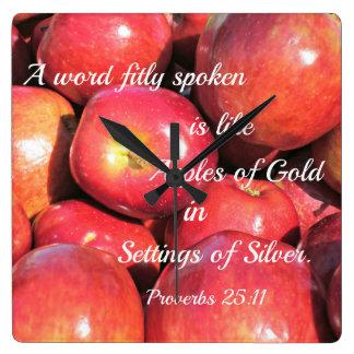 Proverbs 25:11 A word fitly spoken... Wallclock