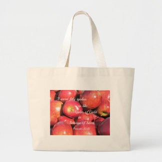 Proverbs 25:11 A word fitly spoken... Tote Bag