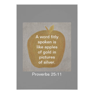 Proverbs 25:11 Gold Apple Silver Posters