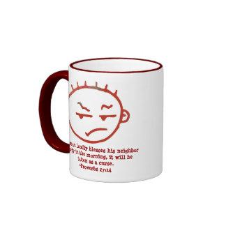 Proverbs 27:14 ringer mug