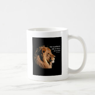 Proverbs 28:1 coffee mug