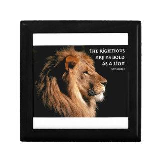 Proverbs 28:1 keepsake box