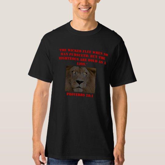 Proverbs 28:1 T-Shirt