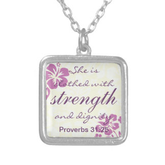 Proverbs 31 25 Clothed with Strength - Purple Custom Jewelry