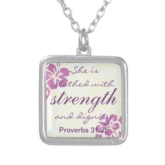 Proverbs 31 25 Clothed with Strength - Purple