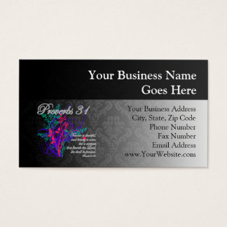 Proverbs 31 Bible Christian Women's Business Card