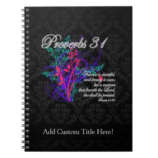 Proverbs 31 Bible Christian Women's Spiral Note Books