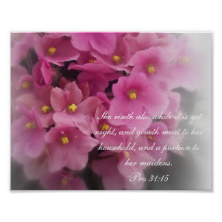 Proverbs 31 Collection ~ Pro 31:15 Poster
