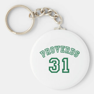 Proverbs 31 basic round button key ring