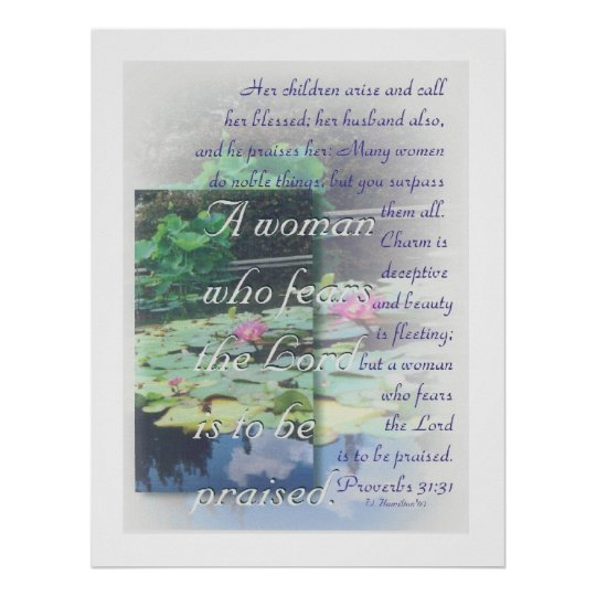 Proverbs 31 woman poster
