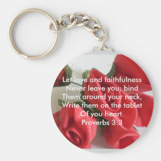 Proverbs 3:3 basic round button key ring