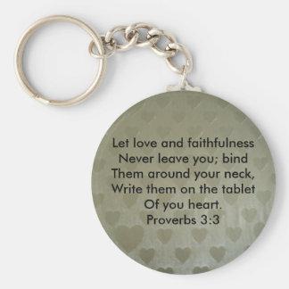 Proverbs 3:3 key chain