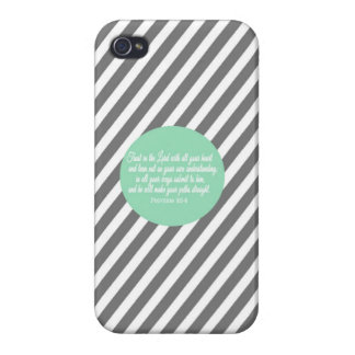 Proverbs 3:5-6 Bible Verse Iphone phone case cover iPhone 4 Cover