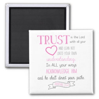 Proverbs 3:5-6 Bible Verse Magnet