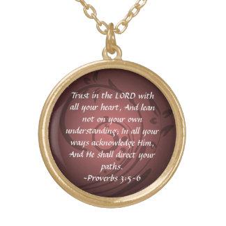 Proverbs 3:5-6  Christian Bible Verse Pendant