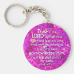 Proverbs 3:5-6 KJV Trust in the Lord Keychains