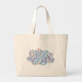 Proverbs 3:5-6 large tote bag