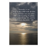 Proverbs 3:5- 6 poster white text
