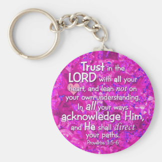 Proverbs 3:5-6 Trust in the Lord Bible Verse Key Ring