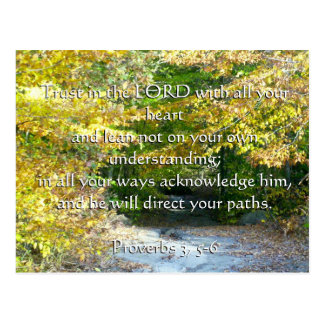 Proverbs 3, 5-6 trust with your heart card postcard