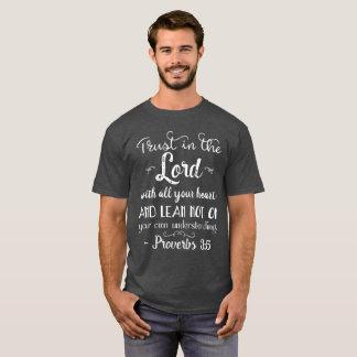Proverbs 3:5 Inspirational Christian Bible T-Shirt