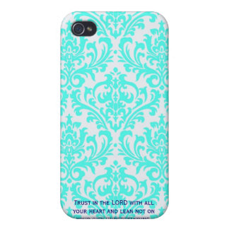Proverbs 3:5  Modern Iphone case with Bible verse iPhone 4 Cover