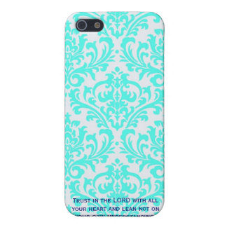 Proverbs 3:5  Modern Iphone case with Bible verse iPhone 5 Cover
