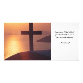 PROVERBS 3:5 CUSTOMIZED PHOTO CARD