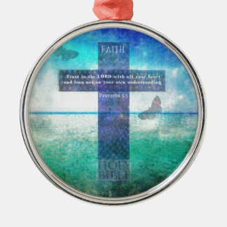 Proverbs 3:5 Trust in the Lord with all your heart Christmas Ornament