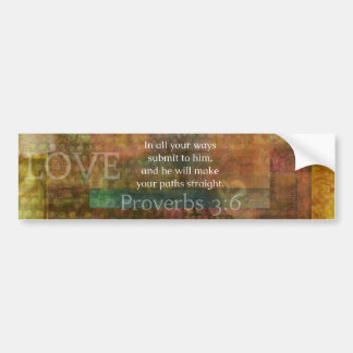 Proverbs 3:6: Inspirational Bible Verse Bumper Sticker